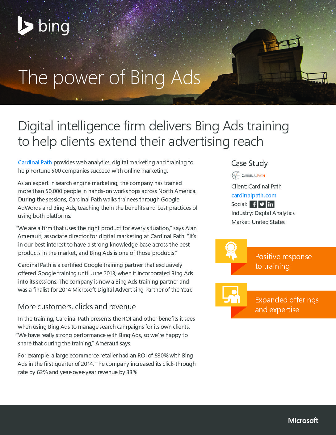 THE POWER OF BING ADS – DIGITAL INTELLIGENCE Logo